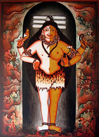 Ardhanariswara - the god who is half-woman