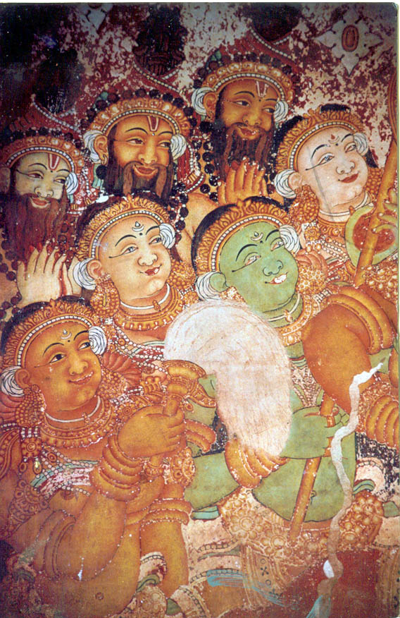 Section - Audience in the Siva Parvati Mural from Kotakkal