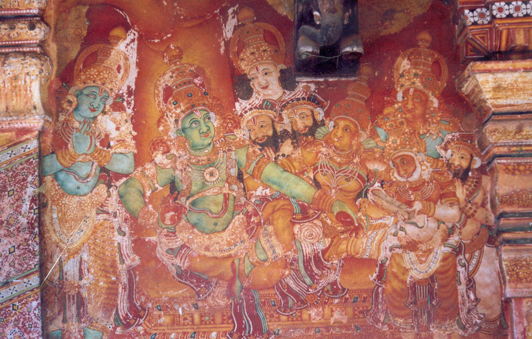 Mural painting - Sree Rama holding court