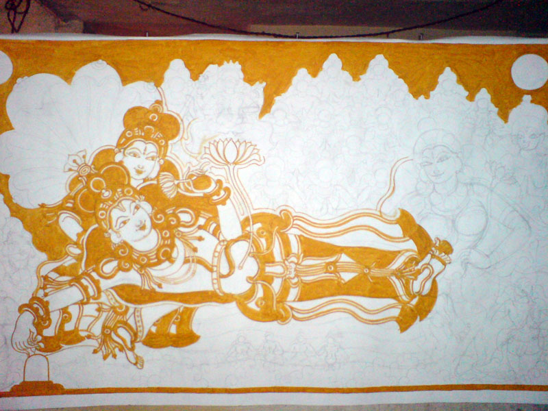 The Making of a Mural: Anantasayanam - After Vishnu, Lakshmi
