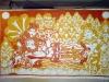 The Making of a Mural: Anantasayanam - Vishnu and Lakshmi get their red hues