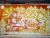 The Making of a Mural: Anantasayanam - Vishnu and Lakshmi get their red hues