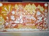 The Making of a Mural: Anantasayanam - the central characters are now red!