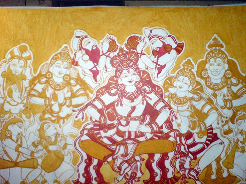 Shri Ramachandra Pattaabhishekham - Introducing red, almost as time consuming as yellow...