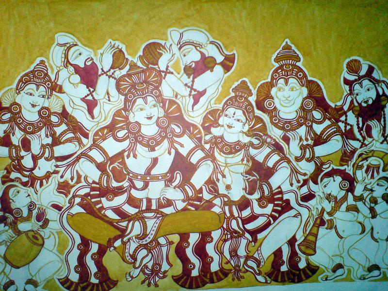 Shri Ramachandra Pattaabhishekham - More red to come, but getting there...