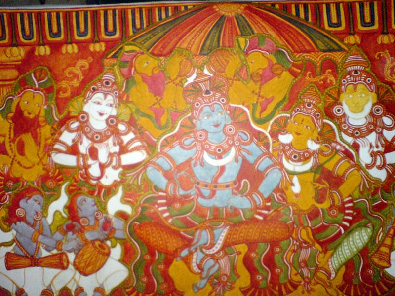 Shri Ramachandra Pattaabhishekham - The last stages, just before black and outlines