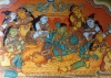 Krishna relaxes with the gopis