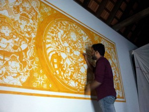 Naveen at work: Nataraja, Mahaganapathi Vattom, Sulthan Bathery, Wayanad