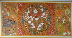 Naveen at Work: Nataraja, Mahaganapathi Vattom Temple, Sultan Bathery, Wynad.
