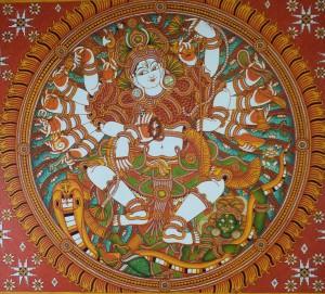 Naveen at Work: Nataraja - detail, Mahaganapathi Vattom Temple, Sultan Bathery, Wynad.
