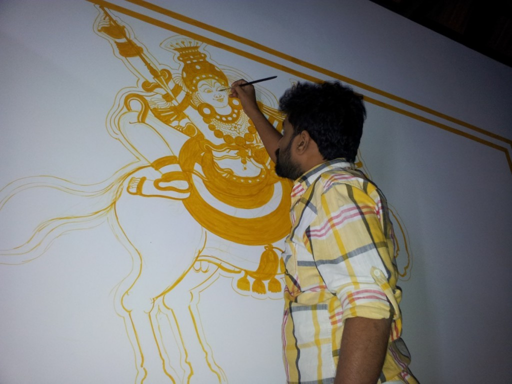 Naveen at Work: Vetta Sastav, Mahaganapathi Vattom Temple, Sultan Bathery, Wynad.