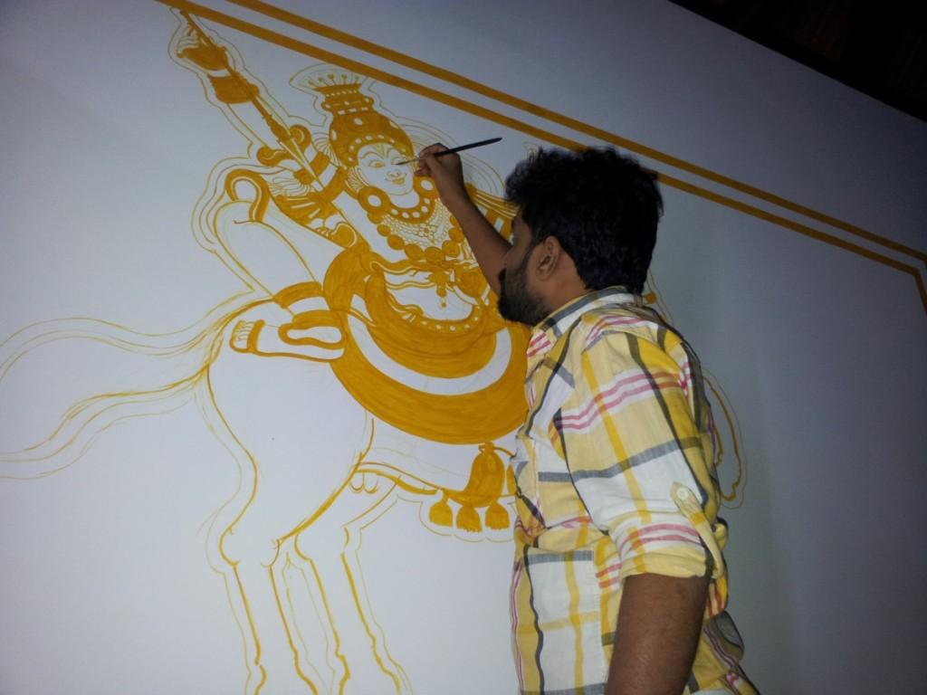 Naveen at Work: Vetta Sastav, Mahaganapathi Vattom Temple, Sultan Bathery, Wynad.