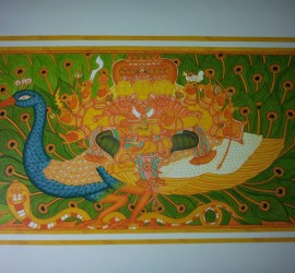 Approaching completion: Aarumugham, Mahaganapathi Vattom Temple, Sultan Bathery, Wynad