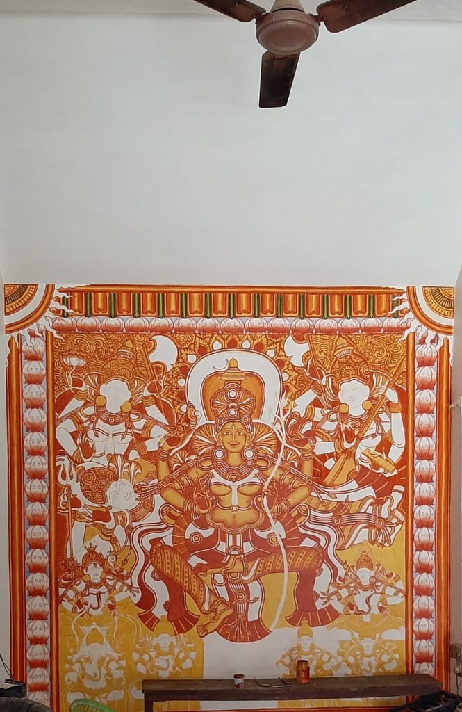 Maha Tripurasundari, Valanjambalam Temple, Ernakulam; red layer added.